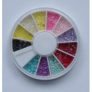 Ruedas de Piedras Decorativas 11 - Perlas de Colores