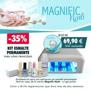 Kit esmalte permanente para uñas francesas