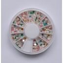 Ruedas de Piedras Decorativas 12 - Perlas Mixtas